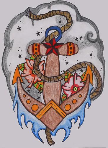Solaris · Old School Anchor Tattoo