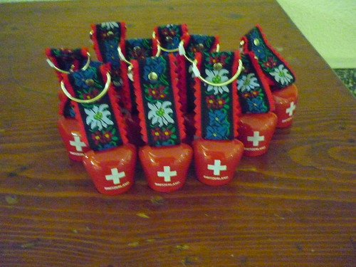 Swiss cow bells instead of confetti or rice