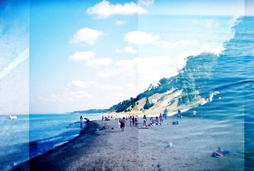 van buren dunes beach- holga