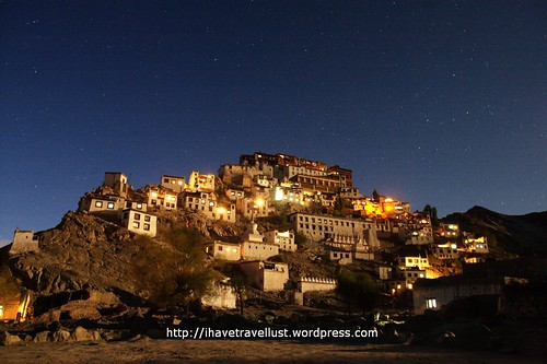 Thiksey Monastery by Night