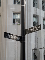 Broadway and Wall Street