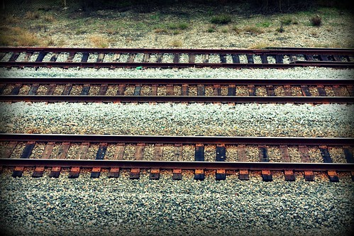 railroad tracks along i-85