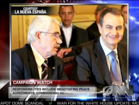 Obama con Zapatero y Maragall