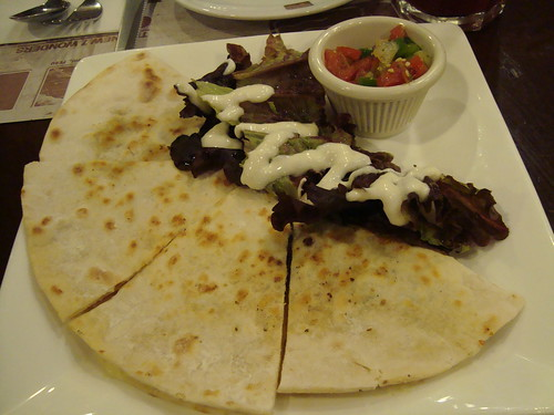 Tijuana Quesadilla (Combo Beef and Chicken) at Bigby's Cafe