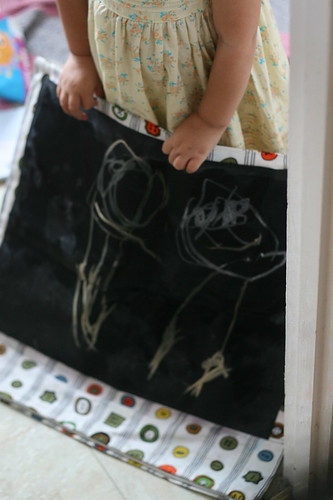 she drew mommy and daddy.