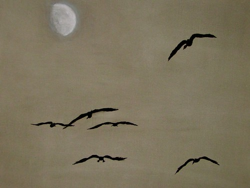 .... flight of the moon