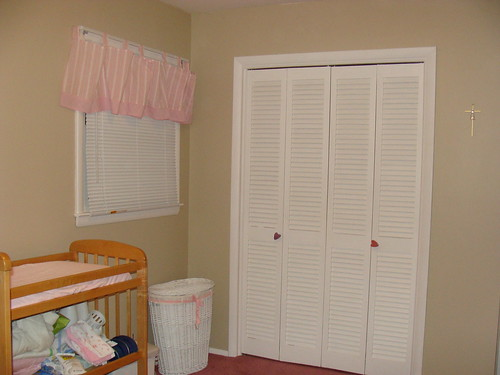 changing table, window and closet