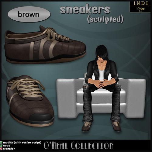 O'Neal sneakers brown