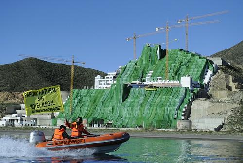 Acción Greenpeace Hotel Algarrobico.
