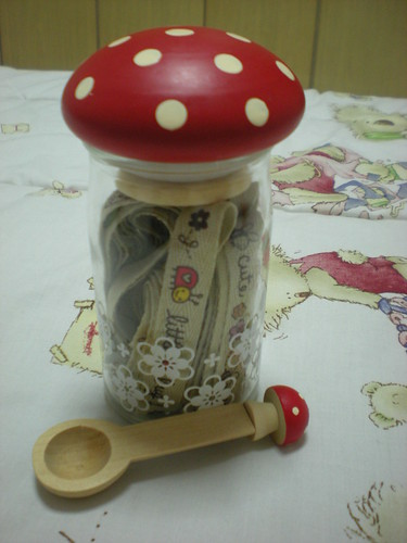 Mushroom Bottle with Cutie Ribbons