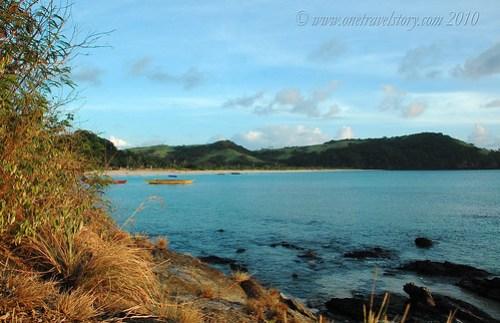 Mahabang Buhangin viewed from the hill, Calaguas Island, Camarines Norte