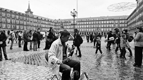 Músico en Plaza Mayor