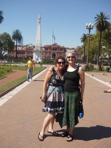 Mom and Me at Casa Rosada