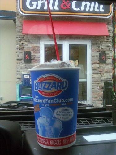 I used a B1G1 coupon to get this...Reeses Cup...my favorite!  Rooster got the Oreo Cookie Jar Blizzard and loved it!