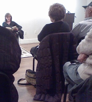 """Zoe Heller reads from her novel, """"The Believers"""", at the DCJCC Jewish Literary Festival / photo taken by Rachel Mauro"""