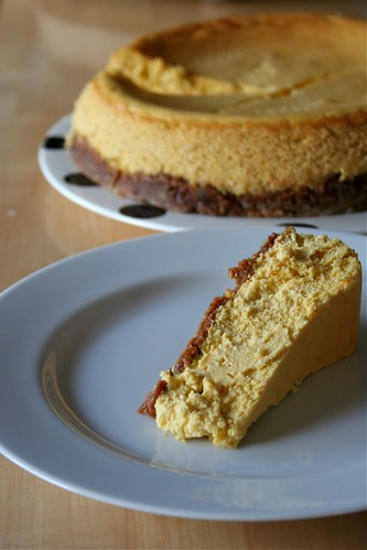 Pumpkin-Ricotta Cheesecake slice/whole