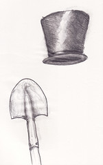 hat and shovel