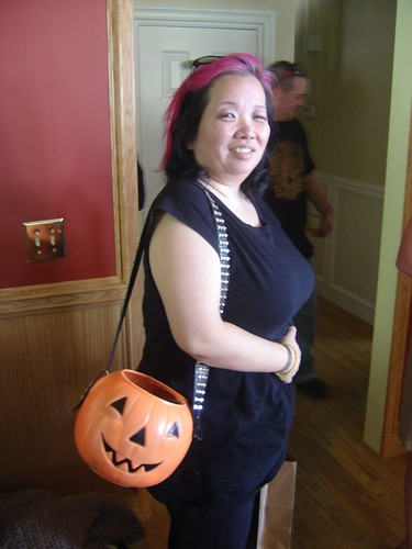 True story: Since Stace carries this pumpkin purse all year round, she says shell often be out shopping and feel little hands searching for candy in her purse!