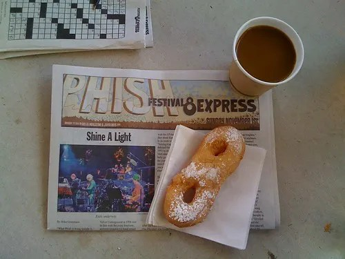 Coffee, Donut & the Morning Paper