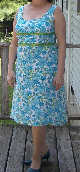 Aqua Linen Dress