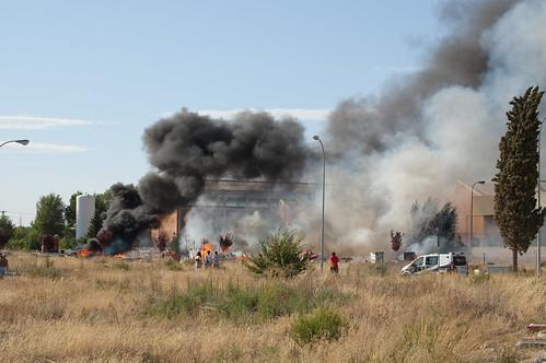 Incendio detrás de la fábrica GAL (I)