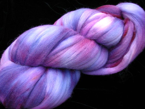 Grape Jelly - Hand Dyed 8 ox Corriedale Top