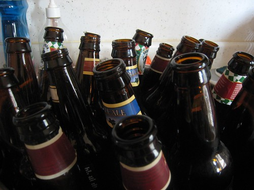 beer bottles for cleaning