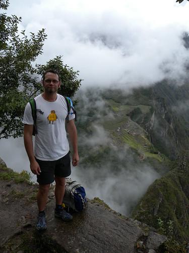 Me on Wayna Picchu with Machu Picchu behind