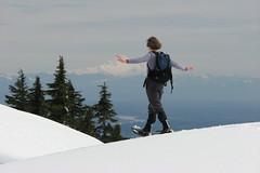 Mt Seymour snowshoe, 18 Apr 2009