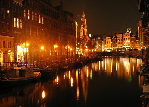Amsterdam canal at night by you.