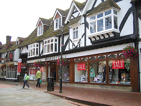 East Grinstead High Street - today it is hard to imagine the horror that took place here