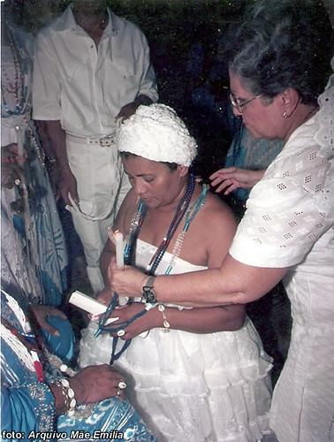 Com a madrinha, Antoninha Jansen.