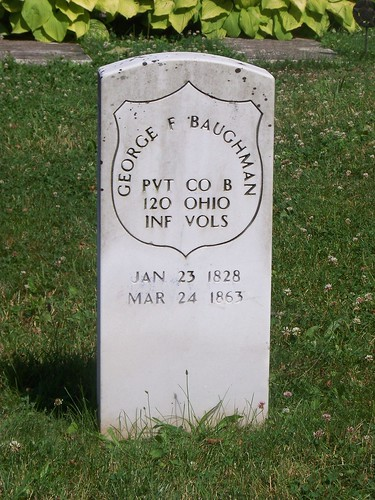 George F. Baughman military tombstone