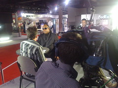 bbc click shoot the stevie wonder interview at ces 2009