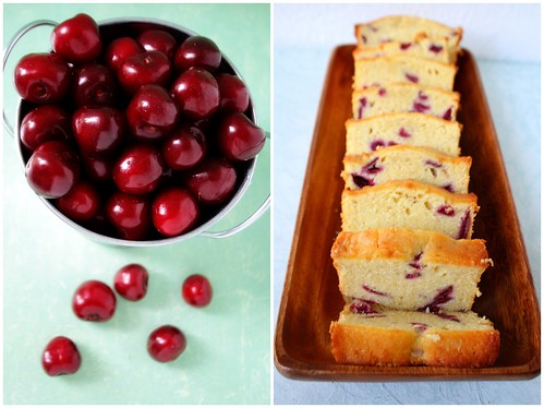 Pail of Cherries and Platter of Cake