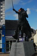 Owain Glyndwr statue.