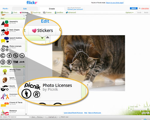 Select Stickers & Photo License