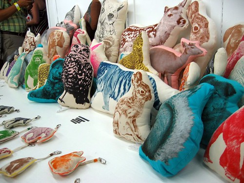 Animal pillows at the Areaware Pop-Up Shop.