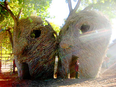patrick dougherty masks (three)
