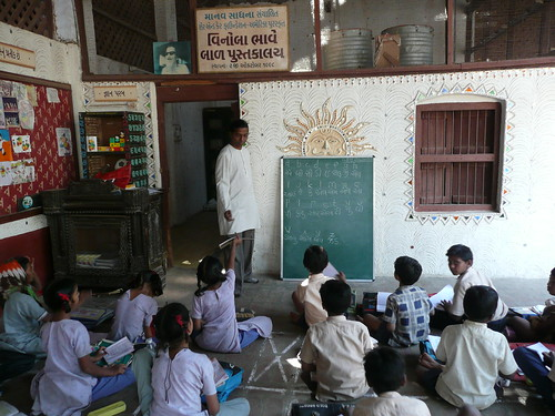 School for untouchables at the Gandhi ashram, run by a nonprofit organization