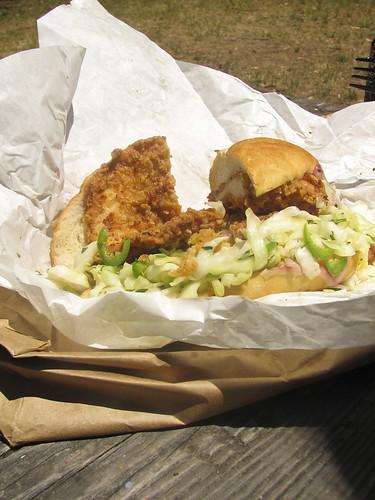 world famous Bakesale Betty fried chicken sandwich