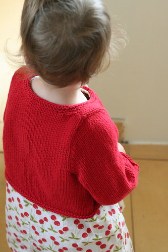 Just One Button Cardigan, back view