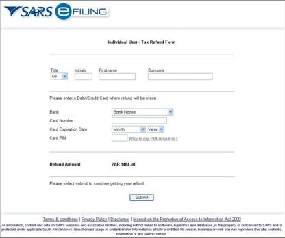 Fake SARS page
