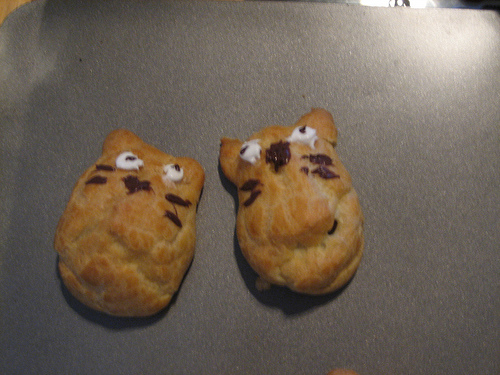 Totoro cream puffs by Alicia and Charlotte, Created/posted on 6/29/2009