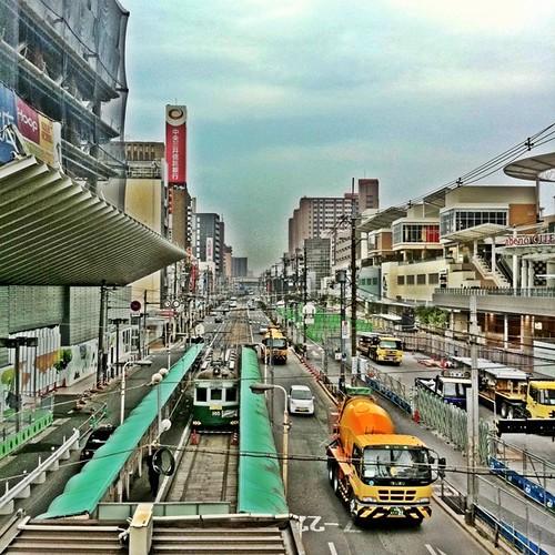 (^o^)ノ < おはよー!今朝の天王寺、ちと曇りです。今日も笑顔でがんばろ~! #Tenoji #morning