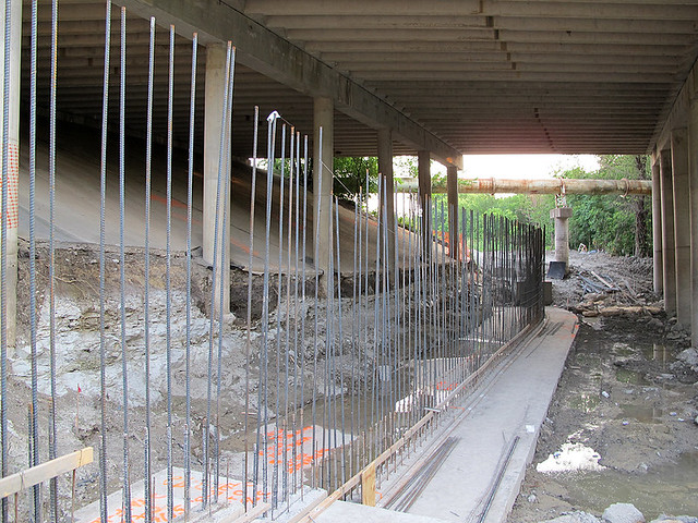 Retaining Wall Construction - Under Renner Road