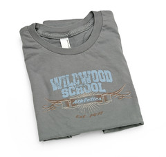Wildwood School apparel by Hearken Creative Services, gray shirt 1