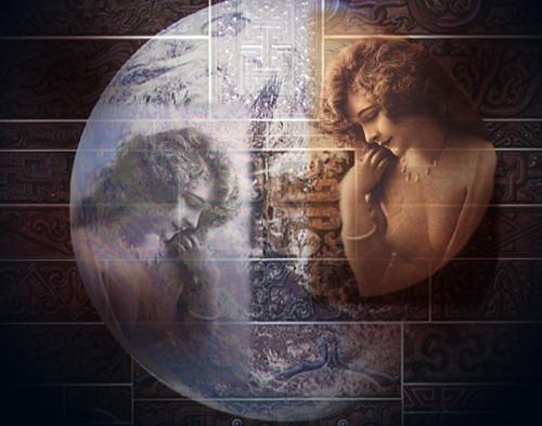 moon goddess digital collage (c) 2005, Lynne Medsker