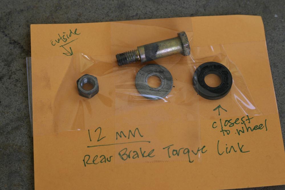 parts to rear brake torque link