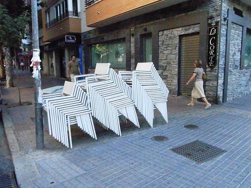 Ocupacion Espacio Publico sillas de bar